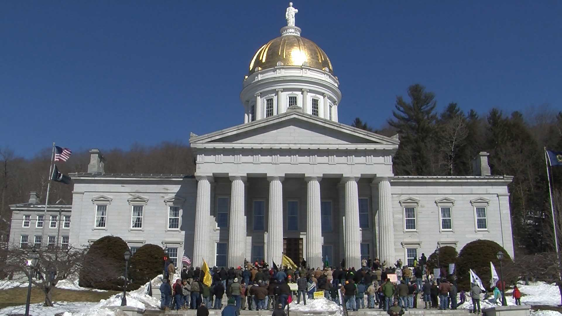 About 800 people gathered at the Vermont Statehouse on Sunday to talk gun rights. The rally comes as Burlington voters said 'yes' to three charter changes that would put restriction on firearms.