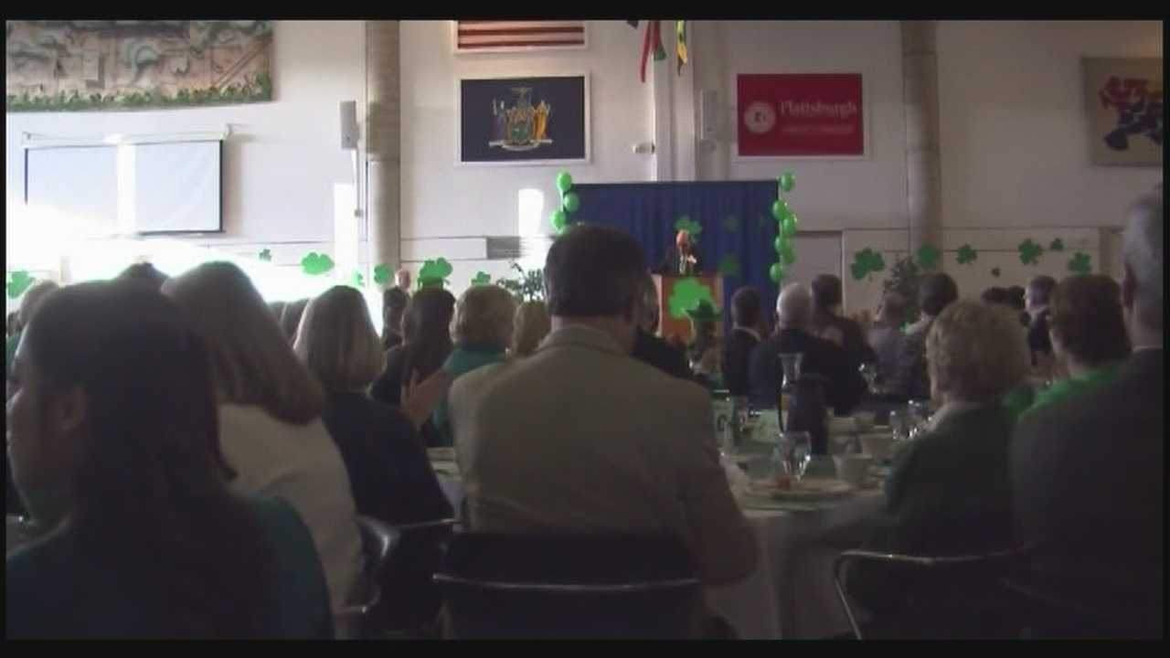 Candidates come out for St. Patrick's Day Breakfast