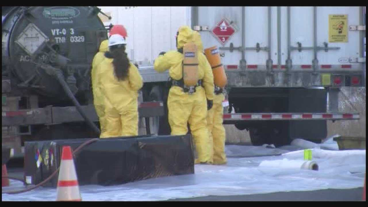 Tractor-trailer traveling to New Jersey spills ehthyl alcohol