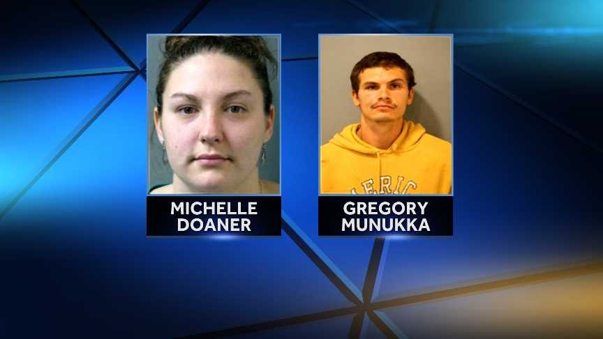 Gregory Munukka, 26, and his girlfriend,  25-year-old Michelle Doaner are accused of using a baby to smuggle drugs into prison.
