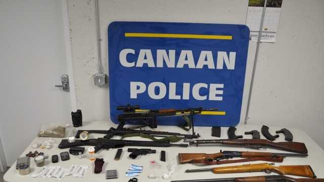 Drugs, weapons found during Canaan drug bust