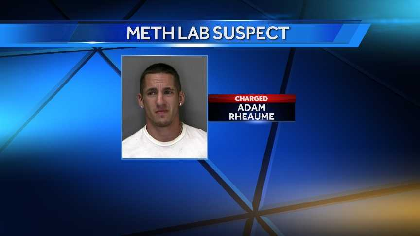Adam Rheaume, 30, of St. Albans, was arrested Tuesday after police say he was cooking meth in his apartment that caught fire on Sunday. (Mugshot from 2010.)