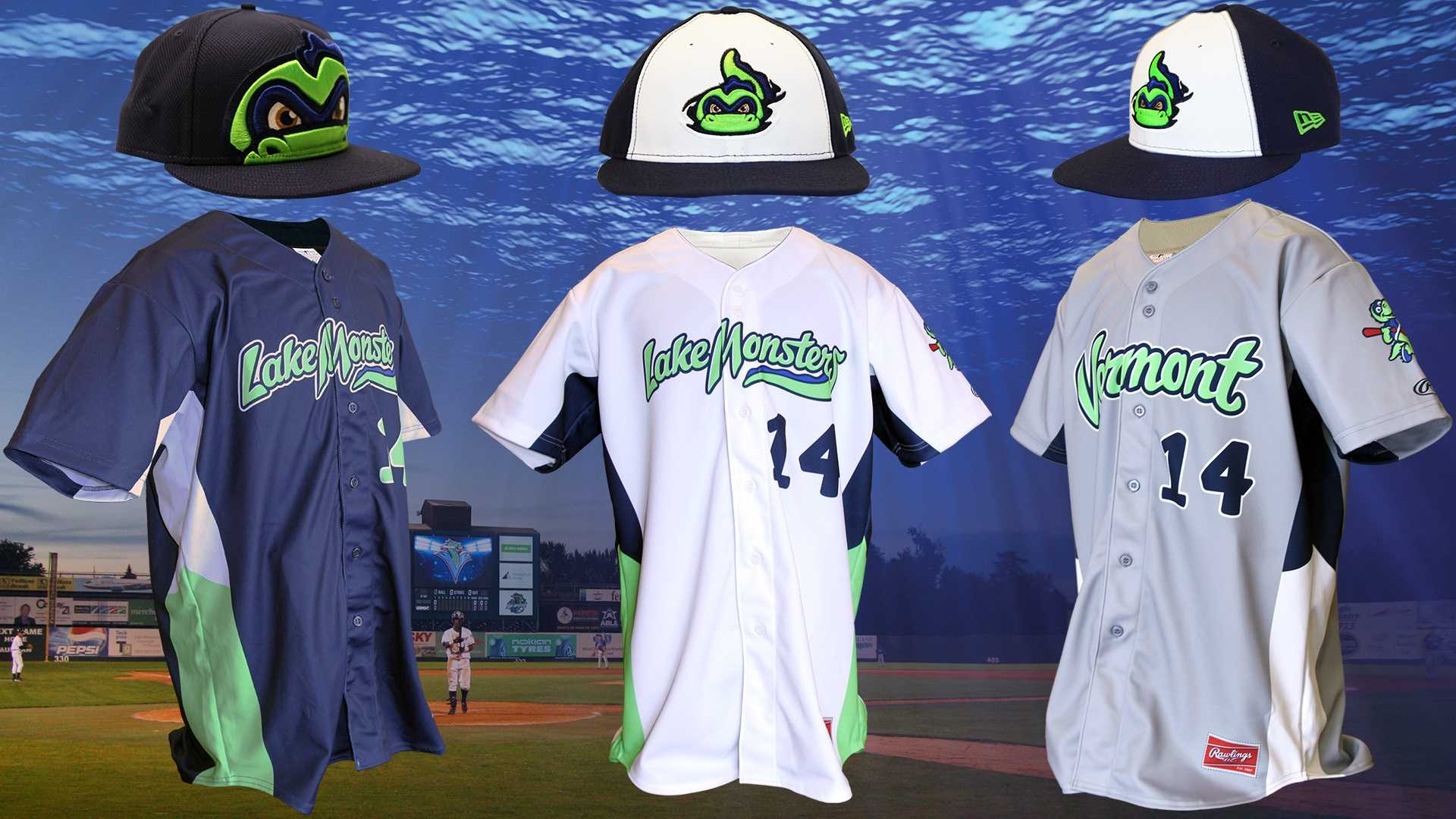 The Vermont Lake Monsters reveal three new jersey designs for the 2014 season.