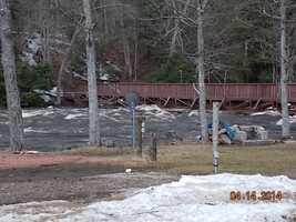 St. Regis Falls, New York dam break