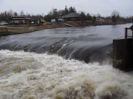 Broken St. Regis River dam