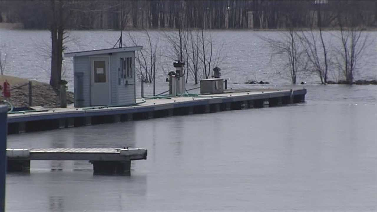Boaters watch lake water levels