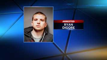 Ryan Digore of Hartford, Vt. is facing a possession of heroin charge after police say they found the drug during a traffic stop on April 18, 2014.