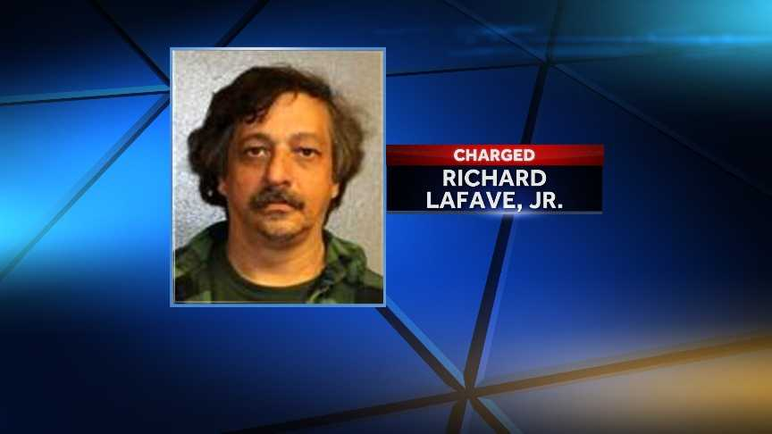 Richard LaFave, 47, of Star Lake, N.Y. is accused of shooting and injuring his neighbor's dog with a BB gun and providing a false written statement to police.