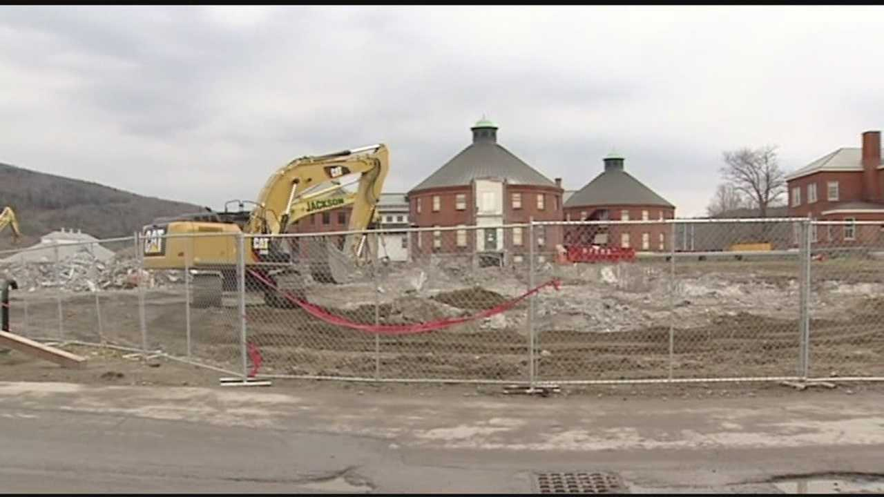 Demolished state complex gets recycled