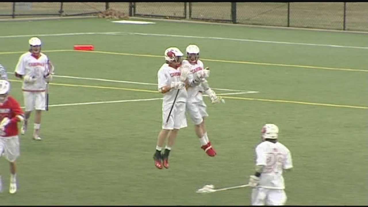Plattsburgh lacrosse gets big offense in clinching win.
