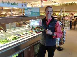 Tom is a frequent Shaw's salad bar visitor. He says yes, he lots tomatoes a lot.