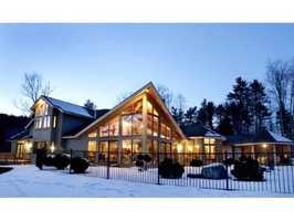 This Keene home on Summit Road is listed at $1,495,000, and is situated on a 30.9 acre estate.