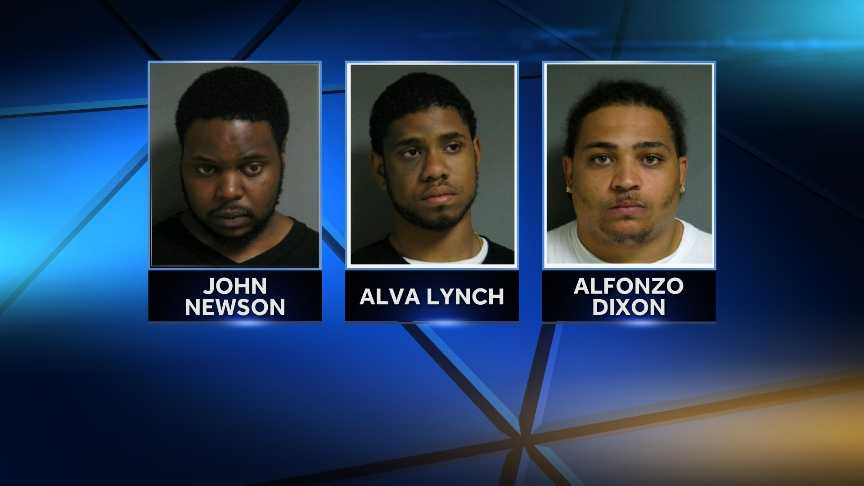 Alva Lynch, 21, Alfonzo Dixon, 26, and John Newson, 25, all of Hartford, Connecticut , were arrested and charged with trafficking/conspiracy to deliver drugs and lodged at Orange County Sheriff's Department. Vermont State Police say they discovered 376 bags of heroin on Lynch during a traffic stop in Randolph on May 12, 2014.
