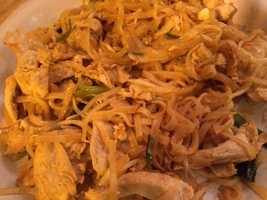 Pad Thai with chicken. - Ana Skidmore, producer