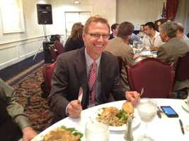 Chicken for lunch at the Vermont Association of Broadcasters Awards luncheon in Montpelier. - Tom Messner, chief meteorologist