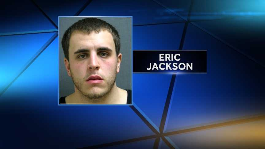 Eric Jackson, seen here in a 2011 mug shot, is accused of stealing a car, leading Vermont State Police troopers on a high-speed chase and ramming the cruisers with the stolen vehicle. Jackson was shot by the troopers during the incident.
