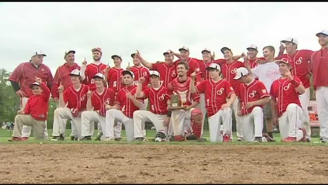 """Saranac holds on to beat Plattsburgh for the Class """"B"""" title."""