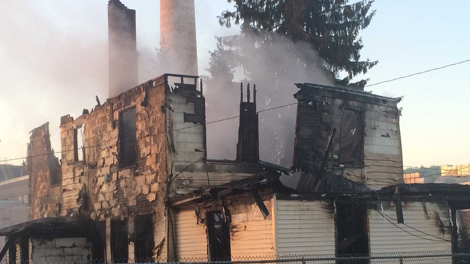 Fire displaces family of three
