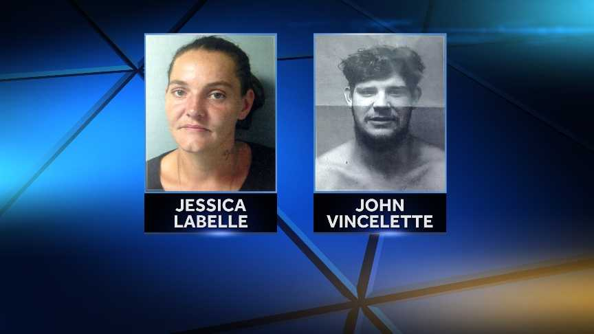 Jessica Labelle was arrested Saturday by St. Albans Police on an arreste warrant for charges of sale of narcotics and 5 counts of false pretenses. John Vincelette was arrested in the same incident for escape from furlough.