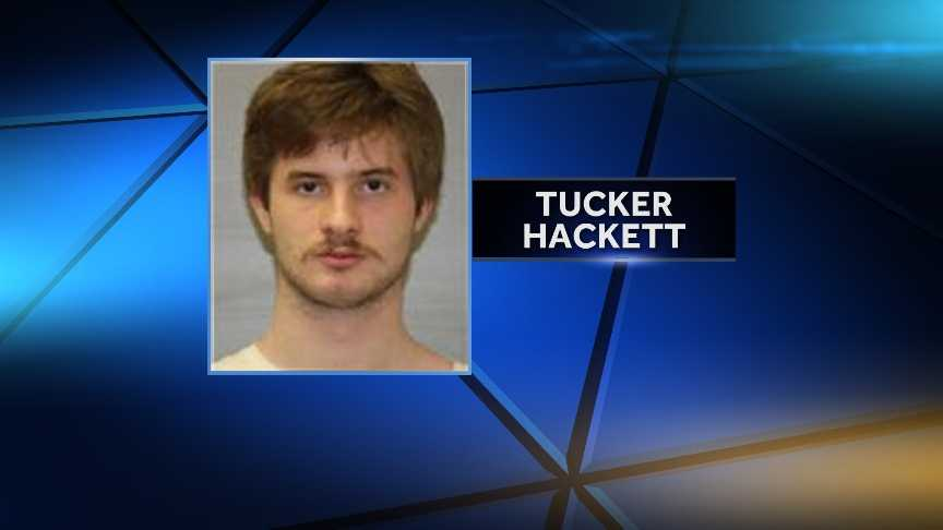 Tucker Hackett, 20, of Plattsburgh, was arrested June 11, 2014, by New York State Police for fourth-degree attempted grand larceny. Police say Hackett attempted to steal a car.