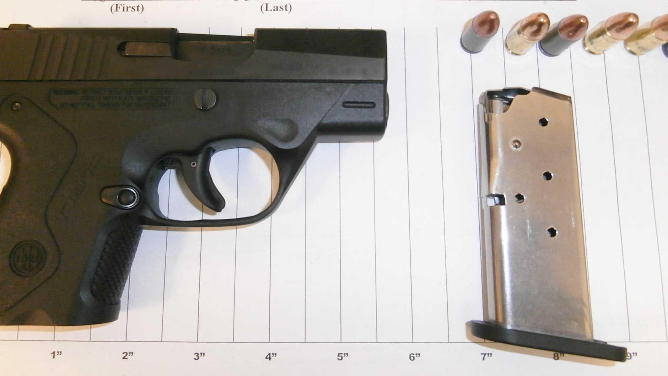 TSA officers caught this handgun in a Clinton County passenger's carry-on baggage.