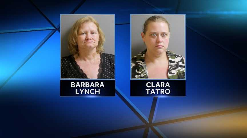 Barbara Lynch, 48, and her daughter, 29-year-old Clara Tatro, were arrested Monday in St. Albans after police say the pair shoplifted $1,500 worth of merchandise from Walmart.