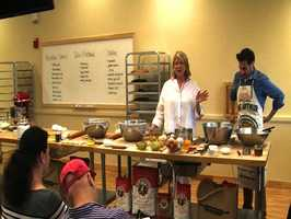 Martha says hello to the more than 80 bakers that attended the demo.