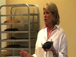 Cognac soaked raisins are one of the secret ingredients to Martha's homemade stollen bread. She also adds marzipan to the dough for extra sweetness.