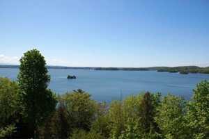 The home looks over Colchester's Mallett's Bay, Lake Champlain.