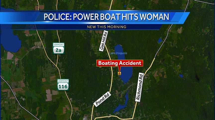 Police: power boat hits woman