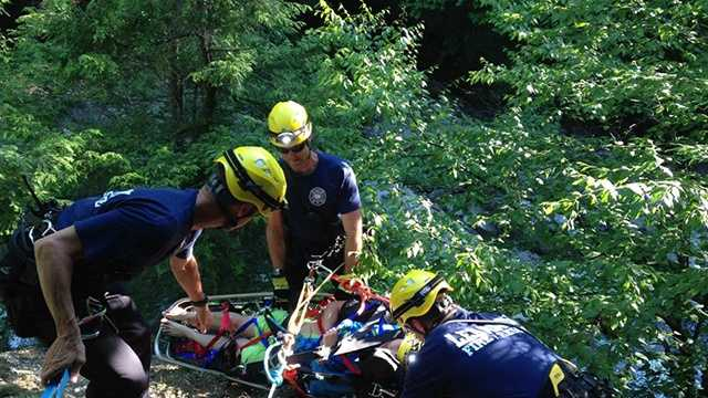 Man rescued from swimming area