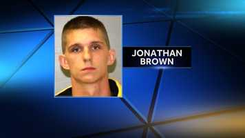 Jonathan Brown, 20, were arrested on drug possession charges by NYSP following a traffic stop in Peru on July 10, 2014. Police say Brown had 53 bags of heroin on him.