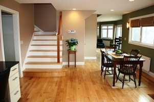 Kitchen nook along the stairway.