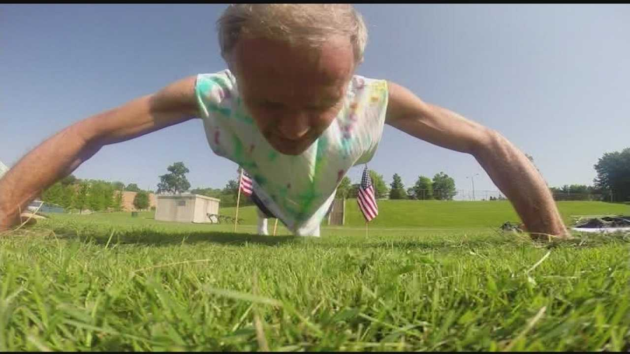 Local man attempts to break world record for push ups