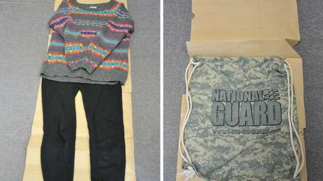 Investigators released these pictures of clothes and a bag Abby Hernandez had when she returned home. They asked that anyone who saw her on North South Road the night of Sunday, July 20, call police, as they continue their investigation into the circumstances of her disappearance and return.