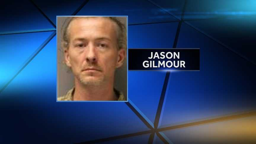 Jason Gilmour, 39, of Ogdensburg, New York, was arrested July 22, 2014, after NYSP say they found him in possession of a 20-gauge sawed-off shotgun. Gilmour was convicted of third-degree attempted arson in January.