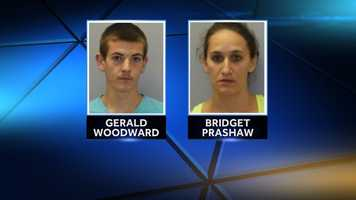 Gerald Woodward III, 18, and Bridget Prashaw, 29, both of Natural Bridge, New York, were issued appearance tickets Tuesday in Gouverneur. New York State Police say the pair were charged with possession of heroin, prescription narcotics, and hypodermic needles.