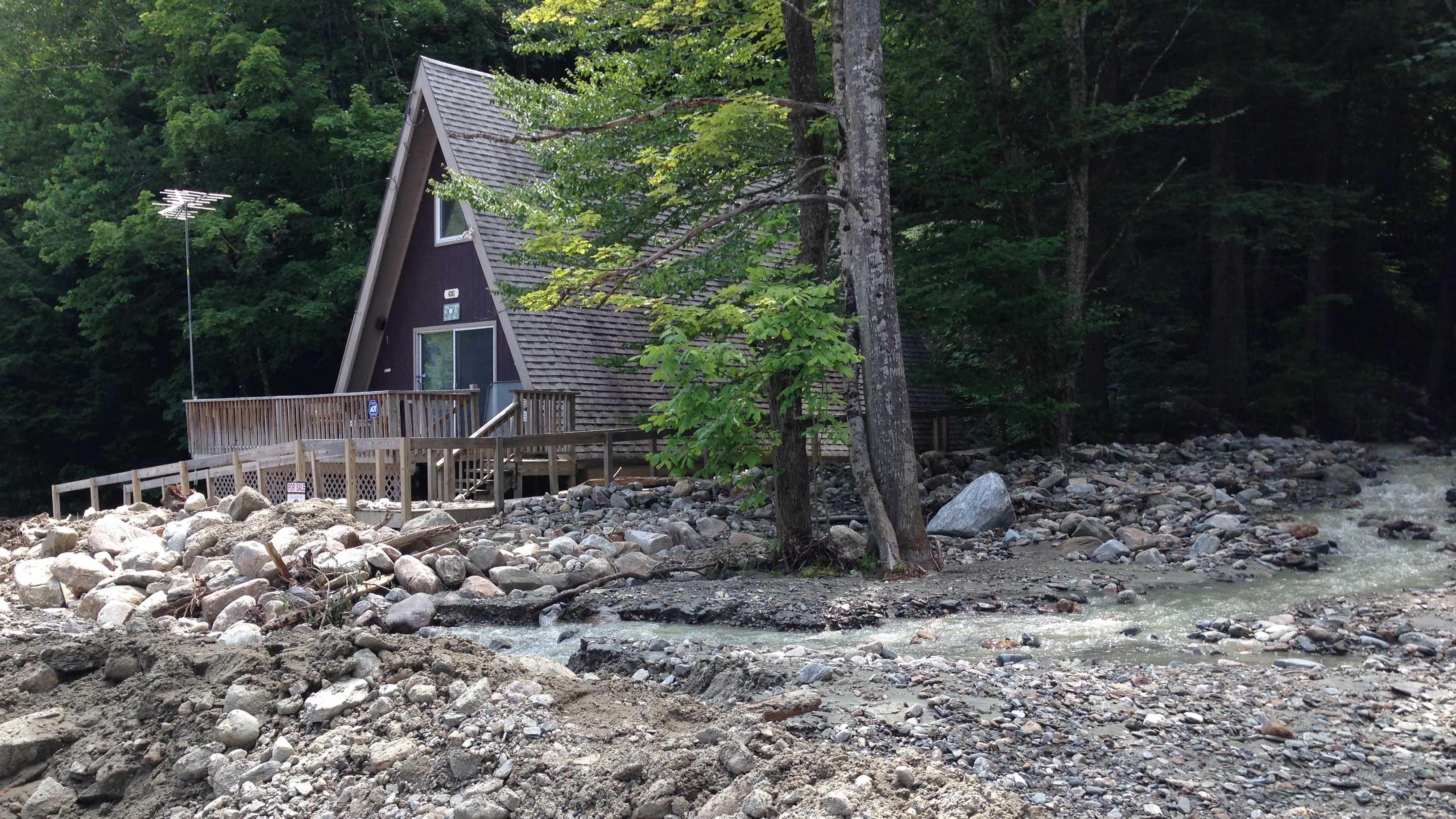 'Mind-boggling' flooding ravages Vt. home 7-30-14 img