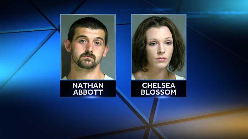 Nathan Abbott, 27, and Chelsea Blossom, 24, both of South Royalton, Vt., were cited on multiple felony counts of selling a regulated narcotic.