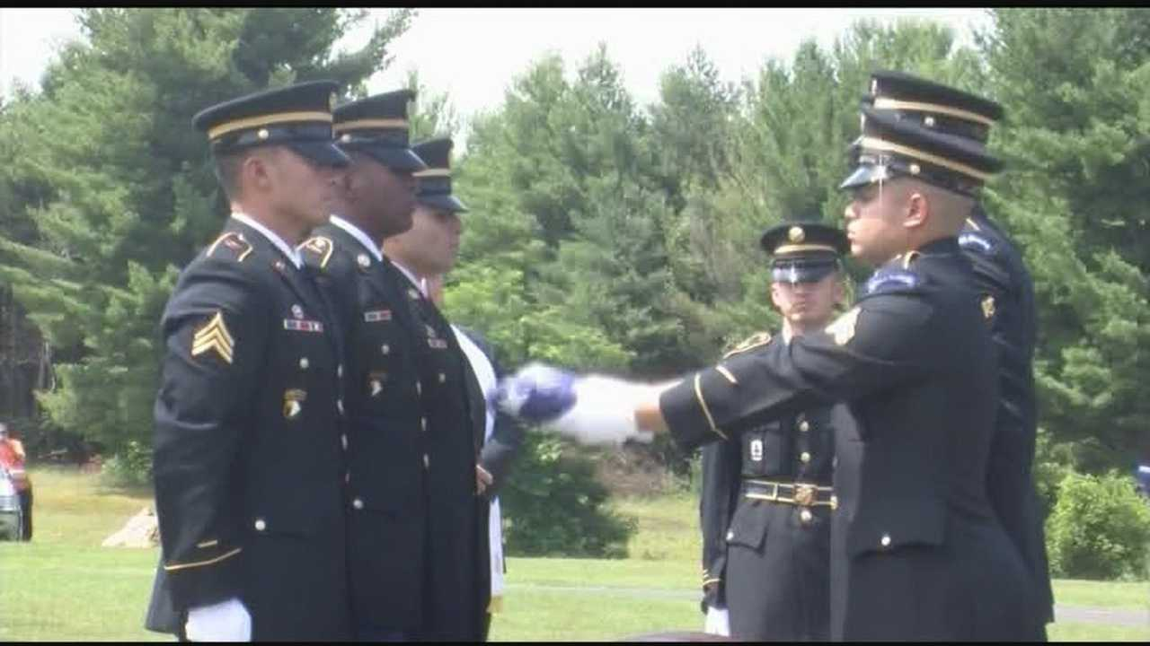Burial with full military honors for recovered soldier