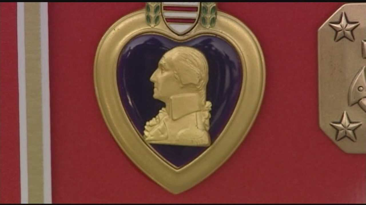 Son receives father's Purple Heart