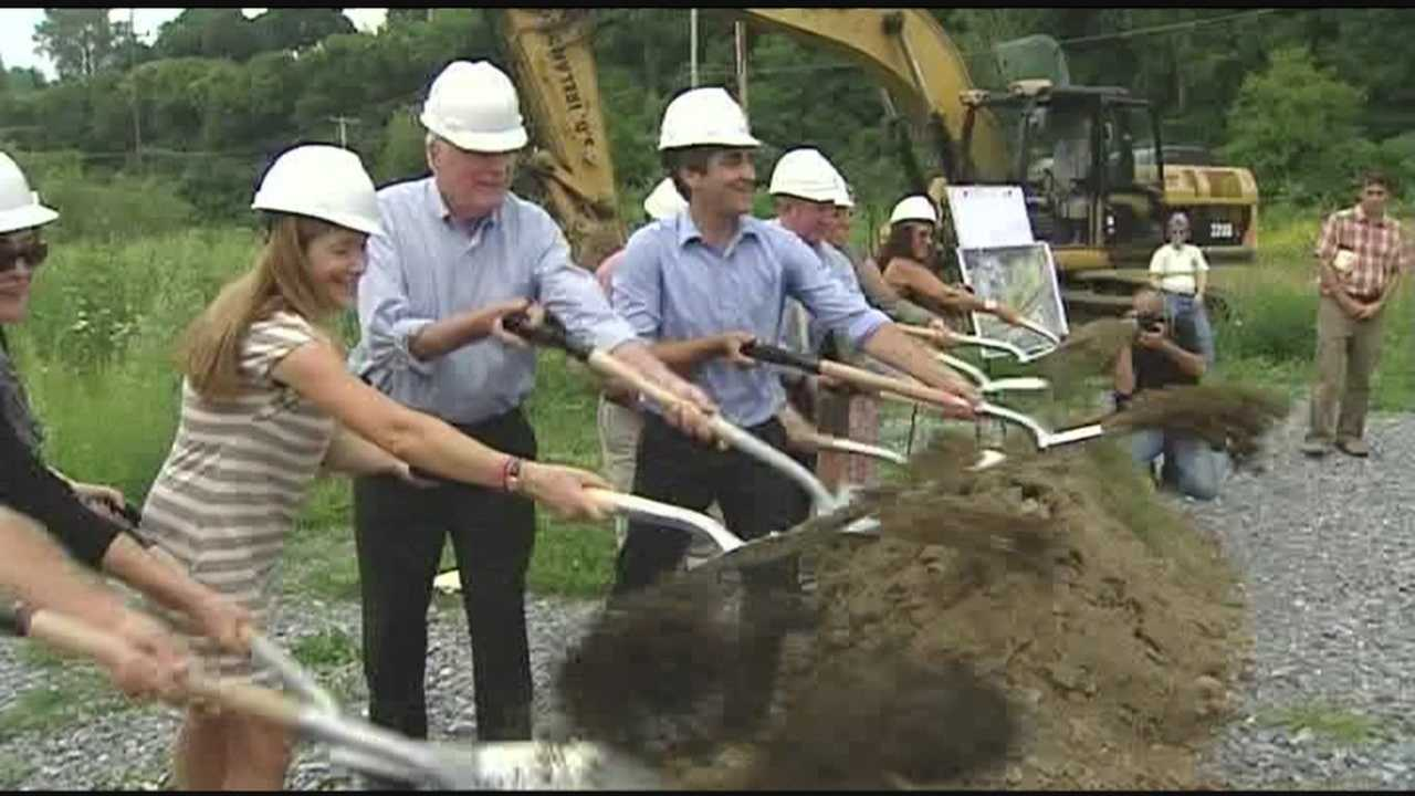 A ceremonial groundbreaking marked the start of improvements to Burlington's bikeway, the creation of a new sailing center and skate park and other improvements.  But the fate of the old Moran Plant is remains unclear.