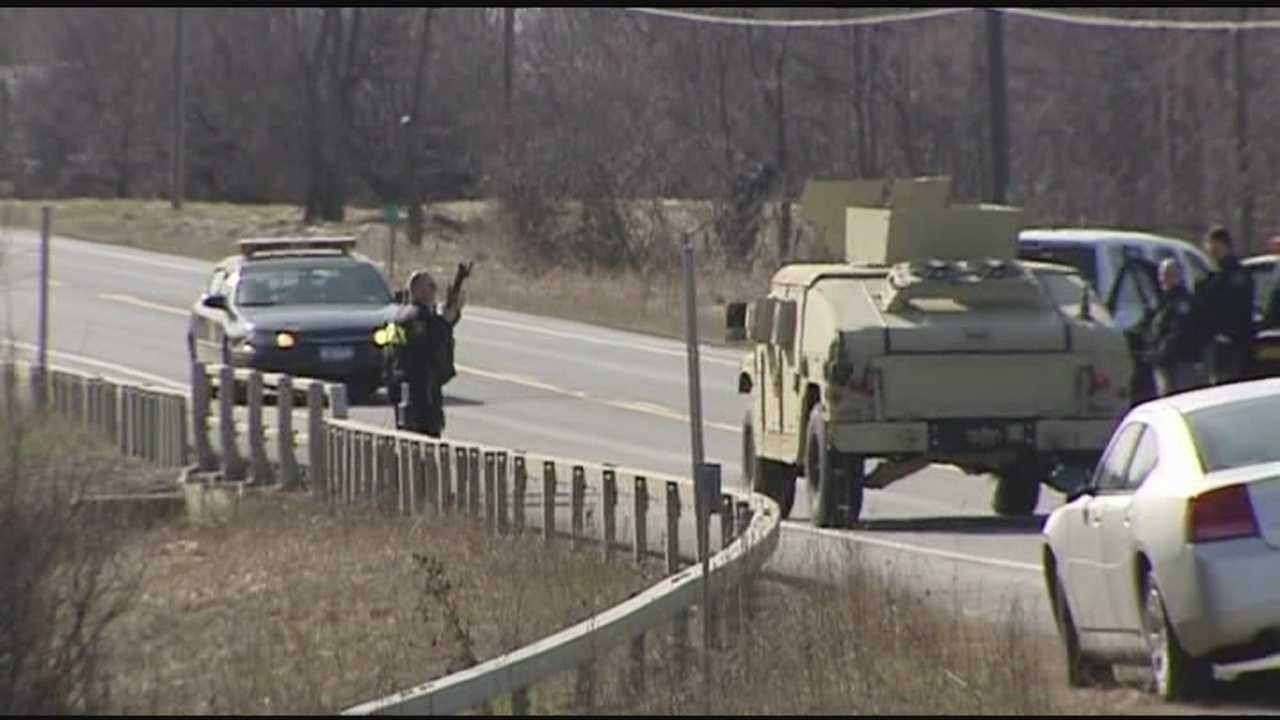 Local police using former military vehicles for protection