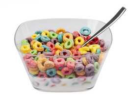 10.) Kids' cereals