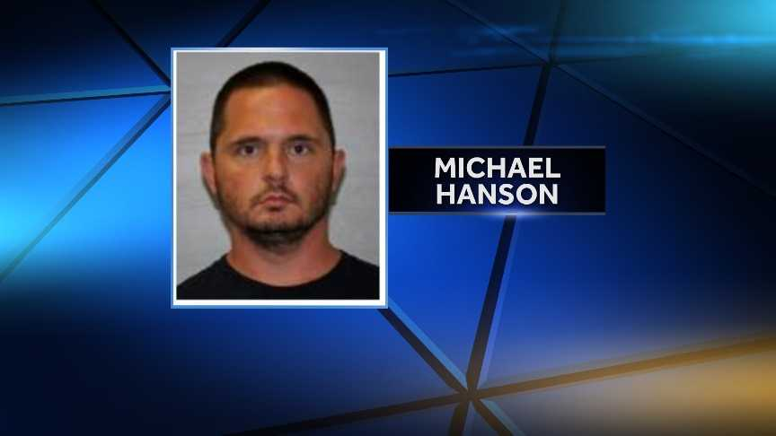 Michael Hanson, 35, of Dannemora, N.Y. is accused of twice burglarizing his neighbor's home and falsely reporting that his own home was burglarized.