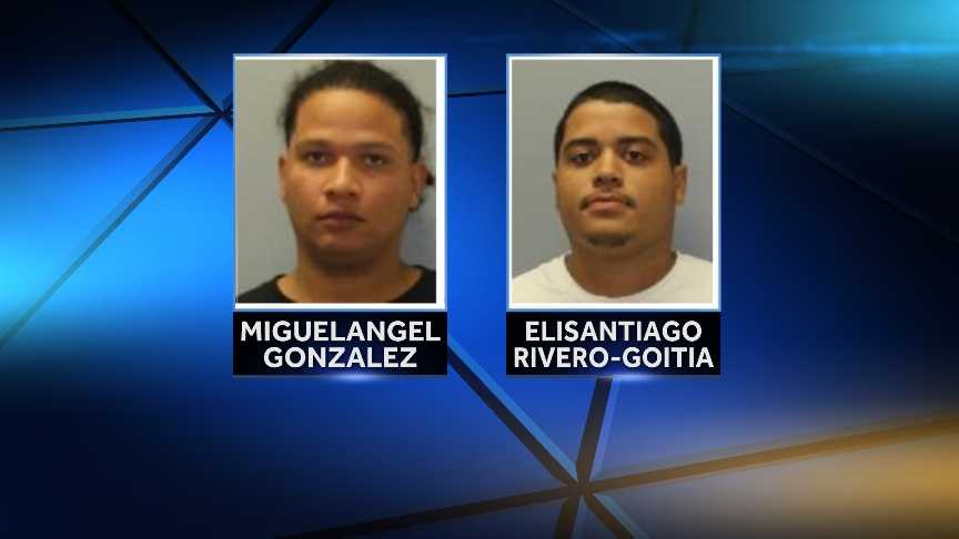 Elisantiago R. Rivero-Goitia, 25, and Miguelangel R. Gonzalez, 26, both of Utica, were arrested by New York State Police on Tuesday for possession of marijuana. Police say the pot was found inside a cooler in their vehicle at a sobriety checkpoint.