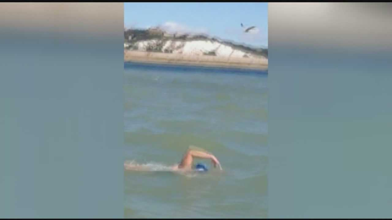 Vermont's Bethany Bosch completes the English Channel swim