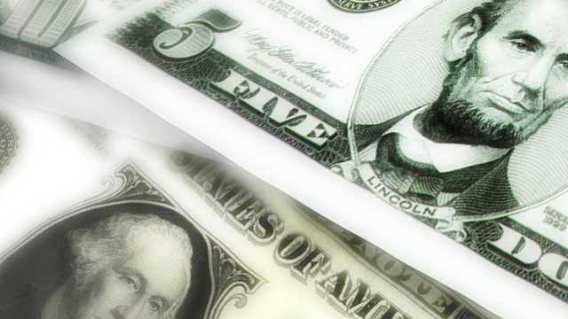 Money - small bills close up