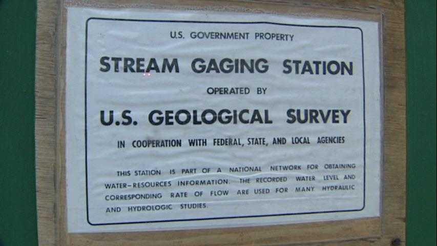 Stream gauge station