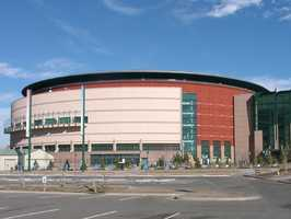 The cheapest - Denver's Pepsi Center - the price for a 24 oz. beer there is $6.25.